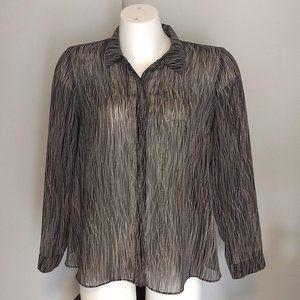 F21 Contemporary black print blouse, EUC